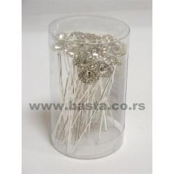 Šnalica sa dijamantom/cvet s/20 4564