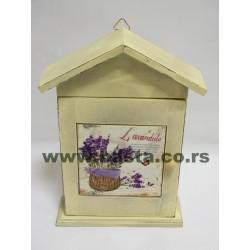 Kućica za ključeve lavanda 19*6*26cm
