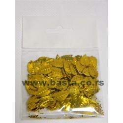 Konfete list zlatni 15g 0059