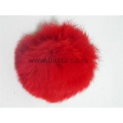 Krznena lopta crvena 0279