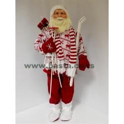 Deda Mraz figura 90cm u dzemperu i skije