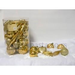 Mix novogodišnjih ukrasa, zlatni 76648201