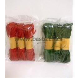 Rafija 50gr  s/3 zelena i crvena