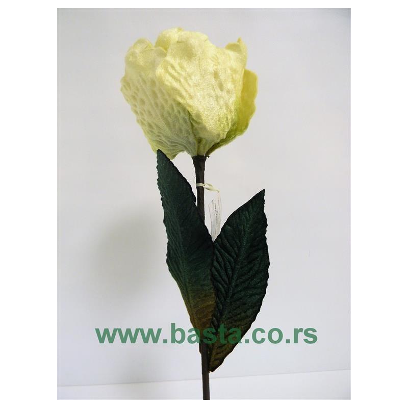 Plišana magnolija 1129 kom krem/sv.zelene