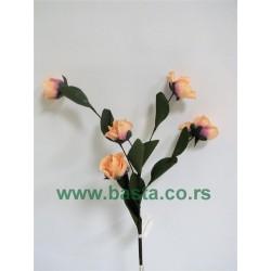 Plišana grana ruža 1132 sv.roza