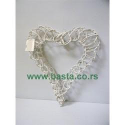 Srce belo 40*30cm 993-2