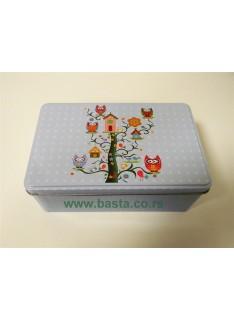 LIm kutija cvetna 20*13*7,5cm 6408 sova mix dezen