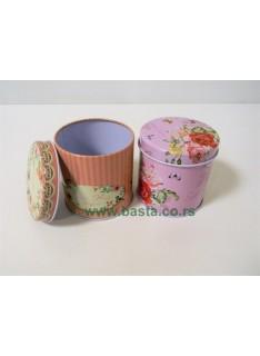 Lim kutija okrugla cvetna-1 8*8cm 1620