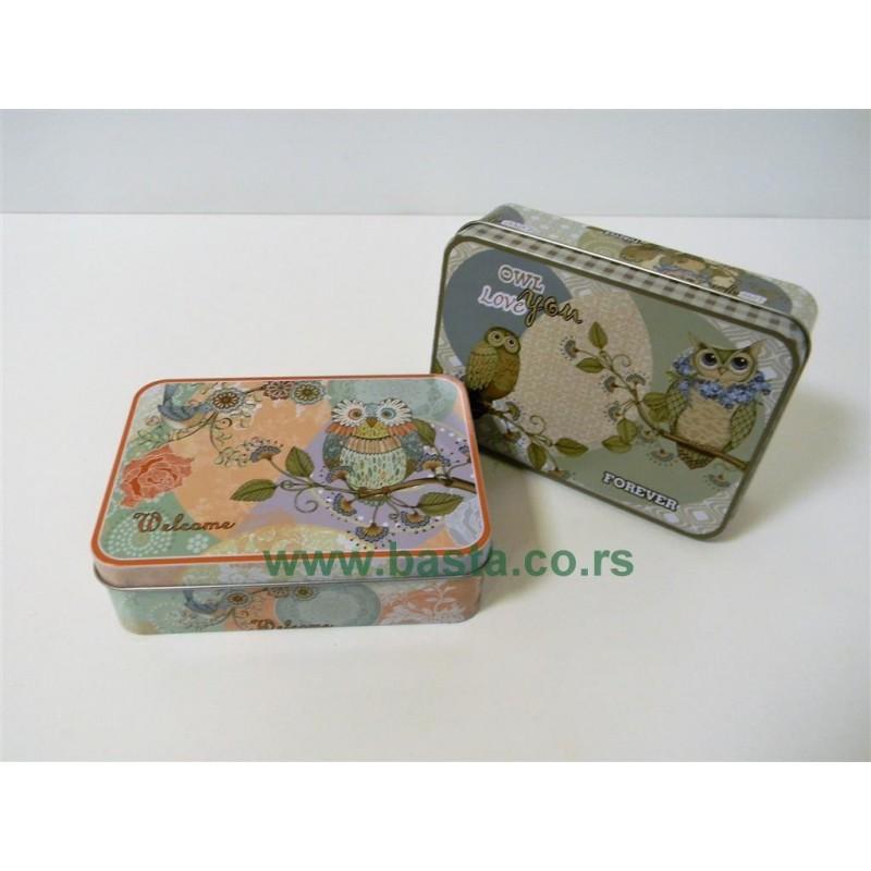 Lim kutija sova 14*10*4,5cm 6412 više dezena