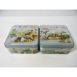 Deko lim kutija jardin 15*15*7cm 1568