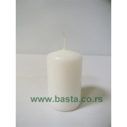 Sveća bela cilindar 50/80 TS