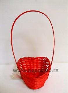 Pl.korpa srce 28C034 crvena