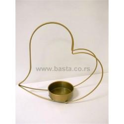 Kov. oblik srce za aranziranje 1370