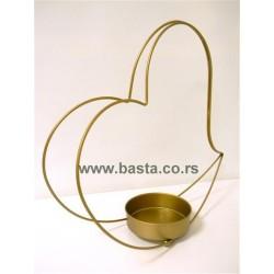 Kov. oblik srce za aranziranje 1369